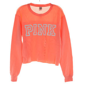 Pink Victoria's Secret CROP sweat shirt top NWT